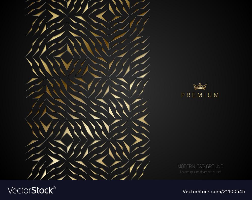 Geometric vip golden greeting card black premium vector image m4hsunfo
