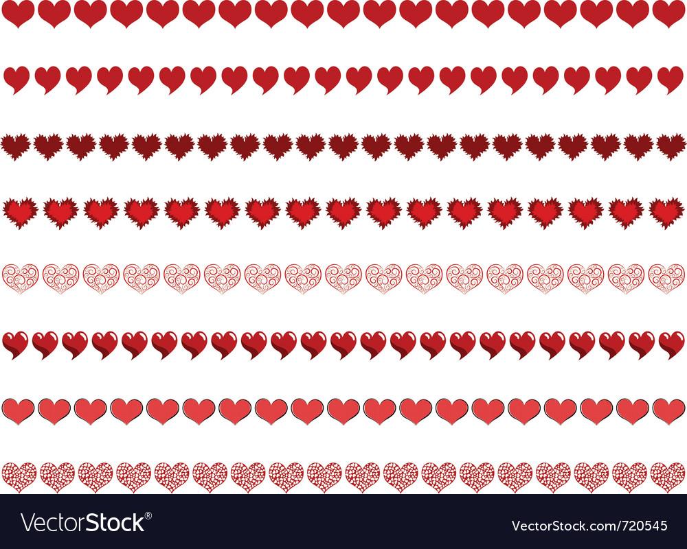 Heart borders vector image