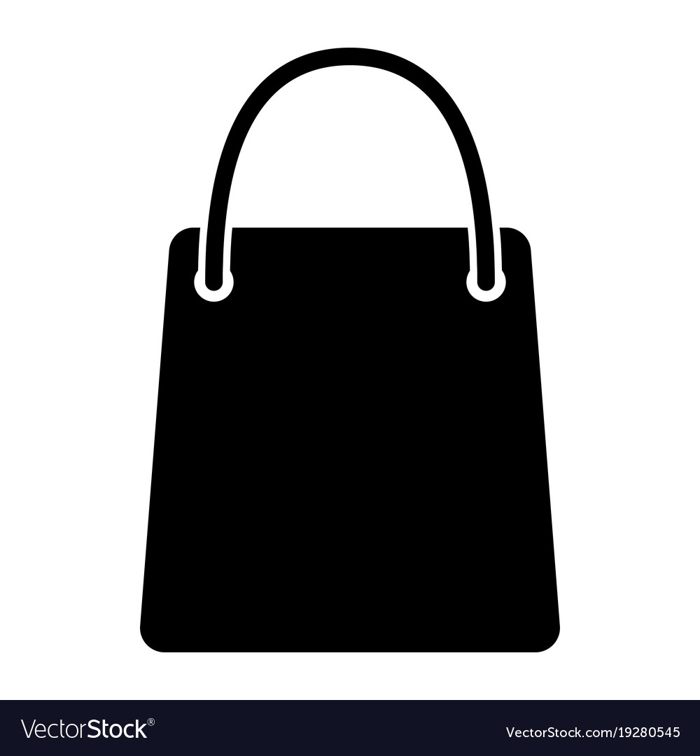 70dbc987aab4 Shopping bags silhouettes vector image