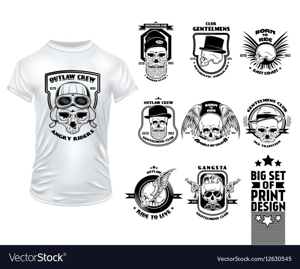 Skull Print Design Set