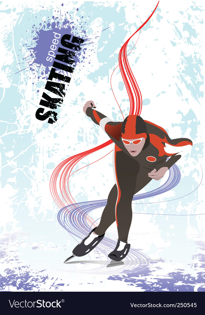 Speed skating poster