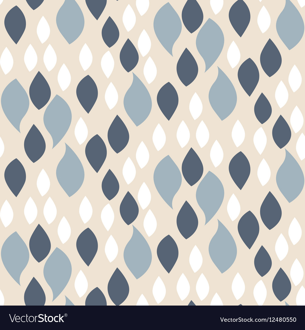 Abstract blue on beige petals pattern