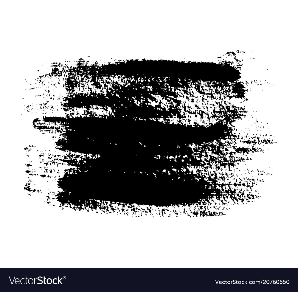 Black grunge brushstroke background vector image