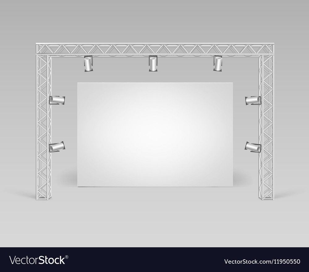 Blank Picture Poster and Spotlights Illumination