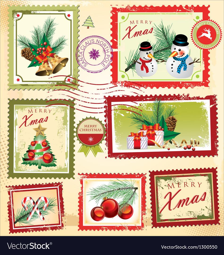 Christmas Stamps.Collection Of Christmas Post Stamps