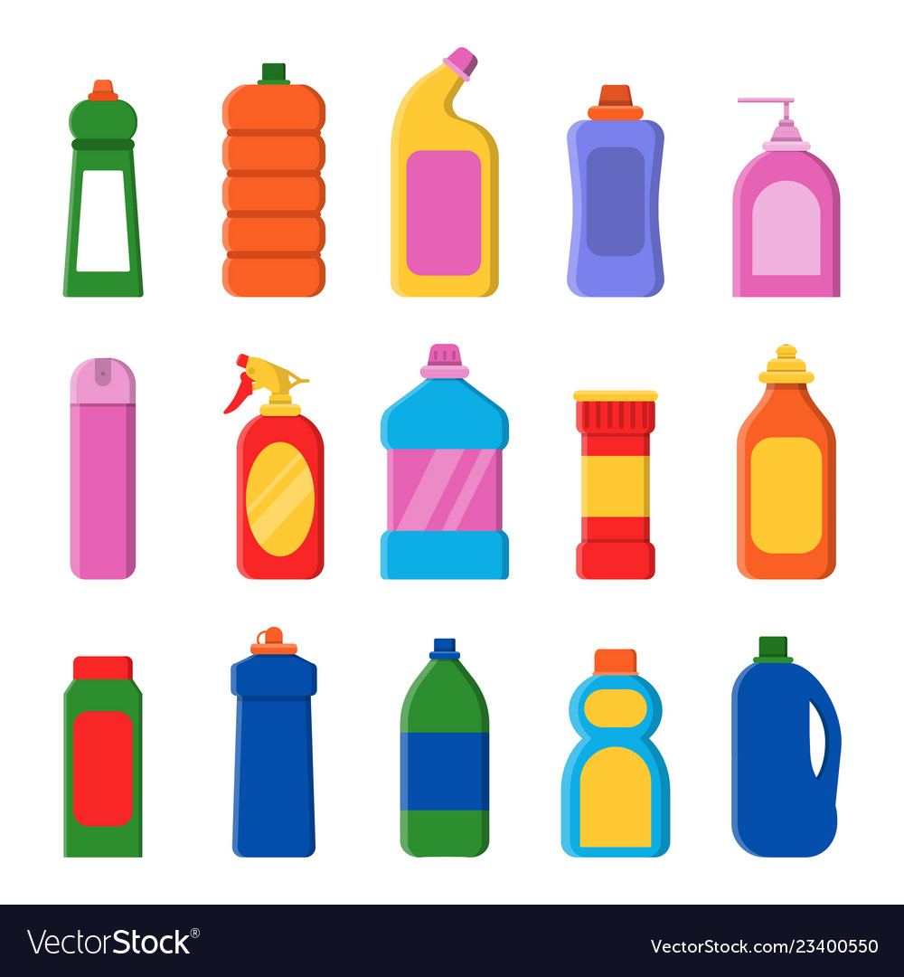 Detergent bottles cleaning products container