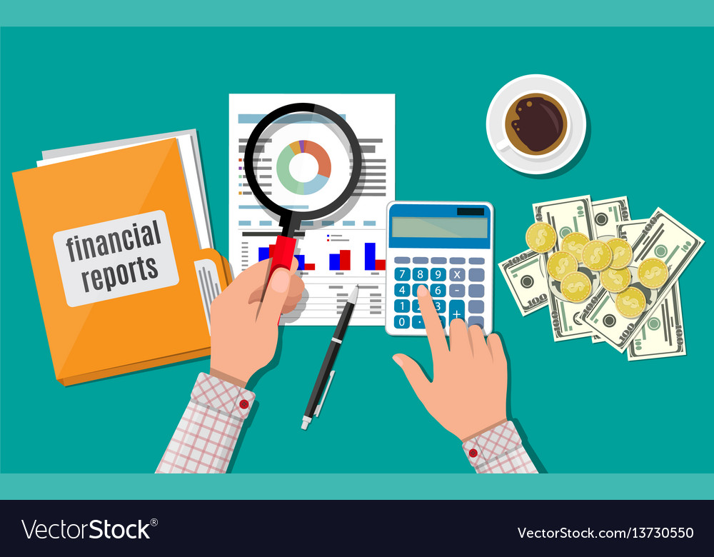 Financial report concept business background