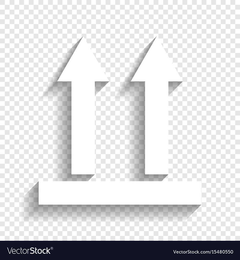 Logistic sign of arrows white icon with