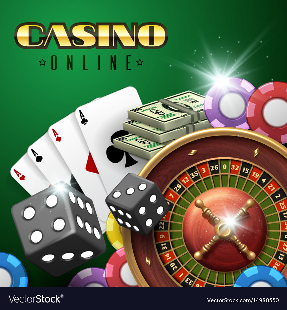 Online casino gambling background with