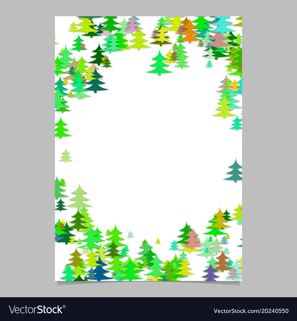 Pine tree pattern presentation template - blank vector image