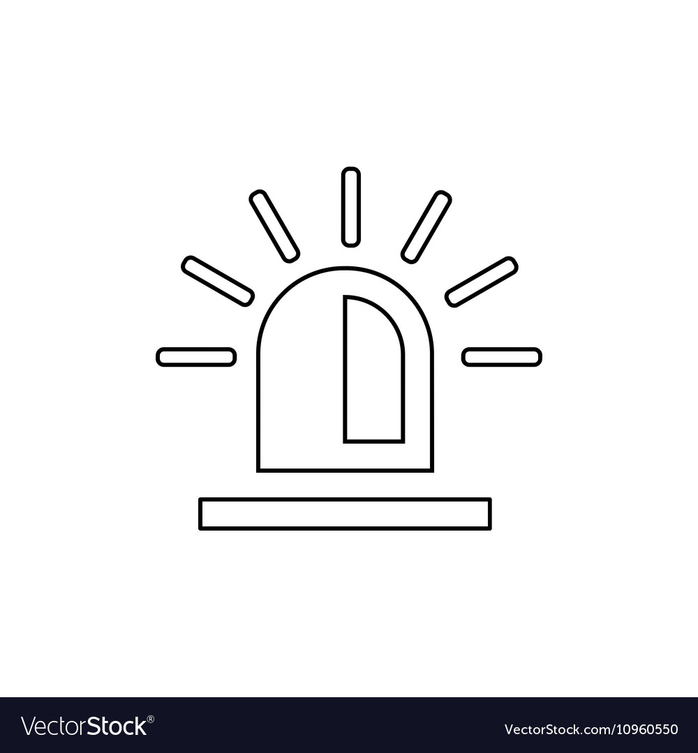 Police flasher outline icon Linear