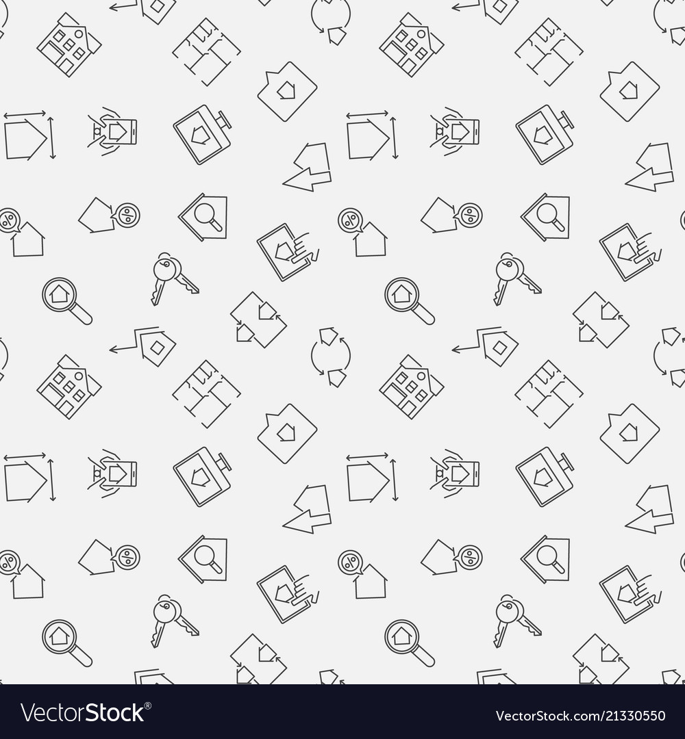Real estate simple seamless pattern