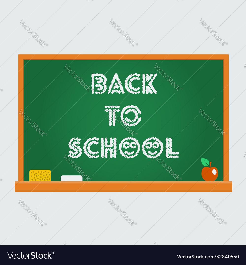 School blackboard back to