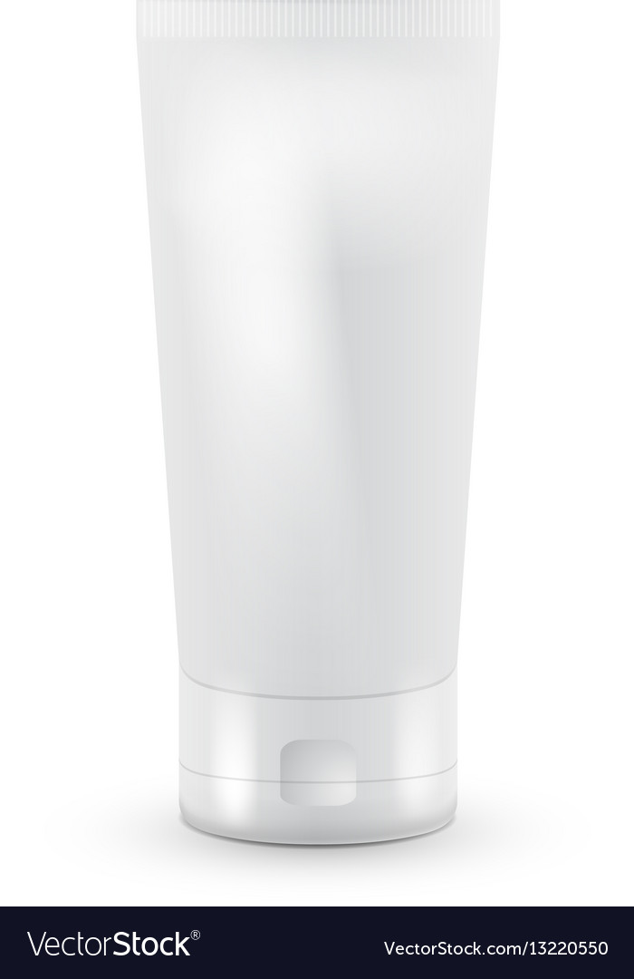 Tube of cream or gel grayscale white clean
