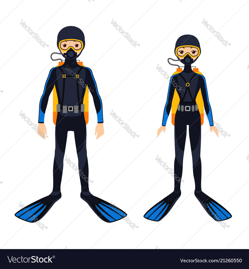 Two young scuba divers