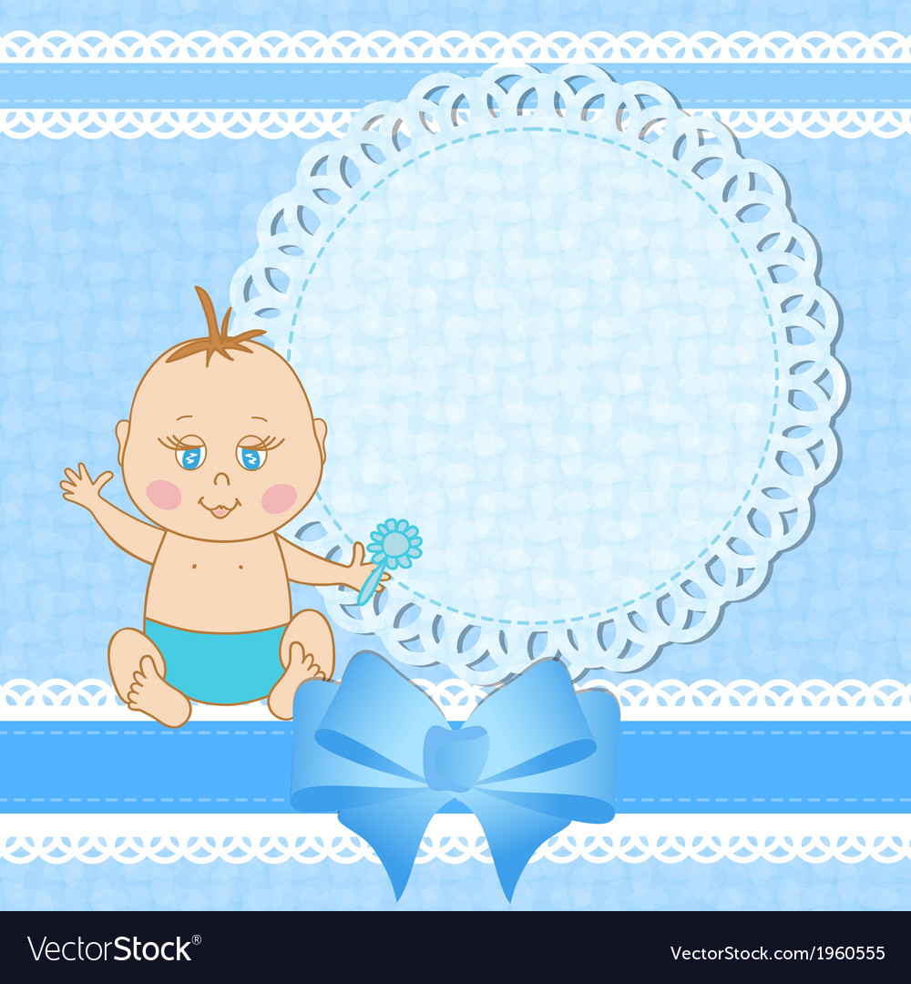 Baby shower greeting card for baby boy royalty free vector baby shower greeting card for baby boy vector image m4hsunfo