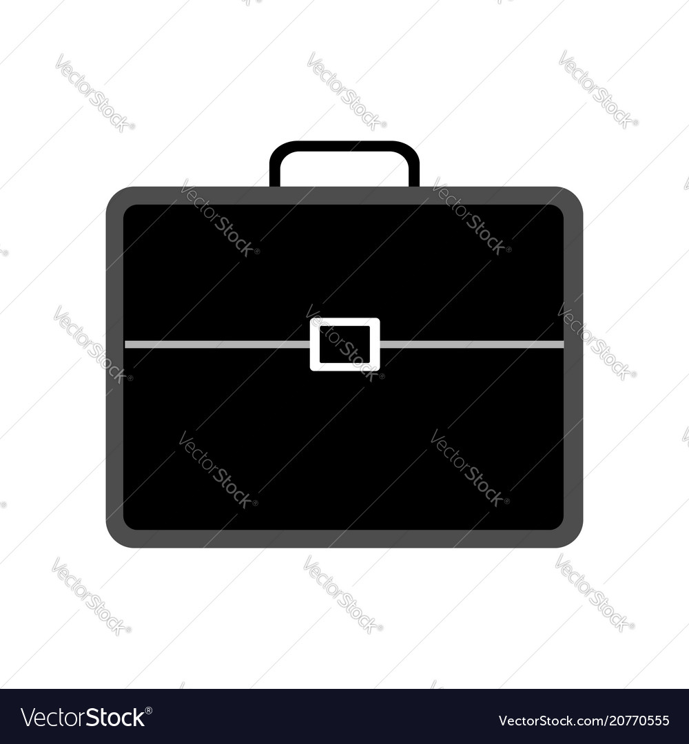 Black briefcase with lock for business man on a vector image