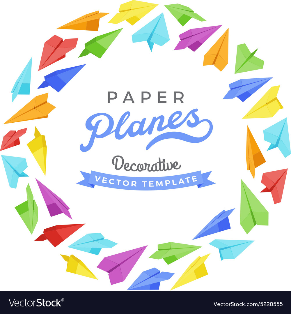 decorating design made of paper planes royalty free vector