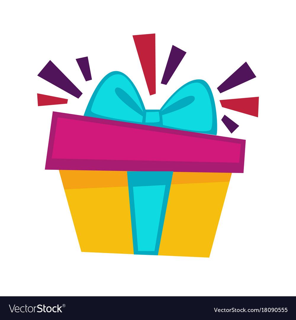 Happy Birthday Gift Box Design Template Royalty Free Vector