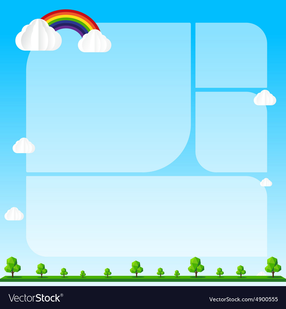 Nature background Cloud sky tree blank frame and