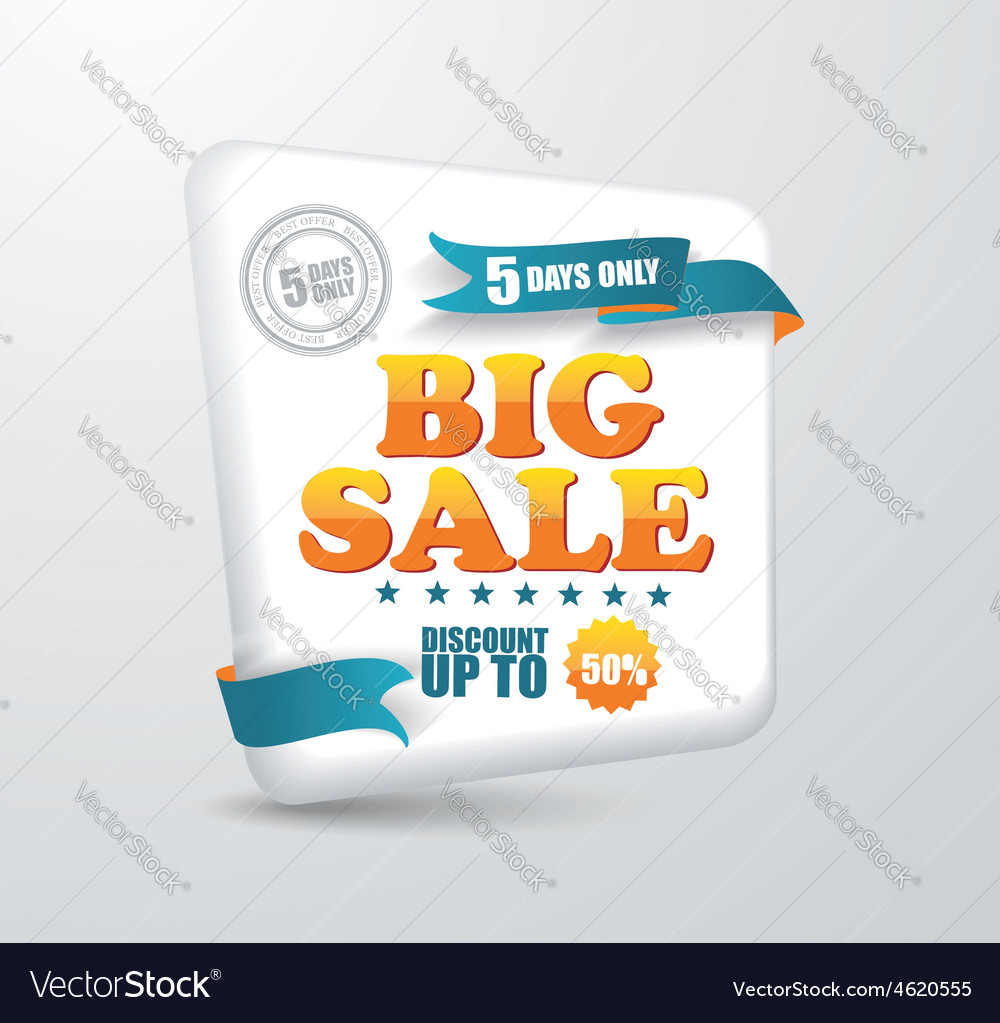 Sale banner Shopping vector image