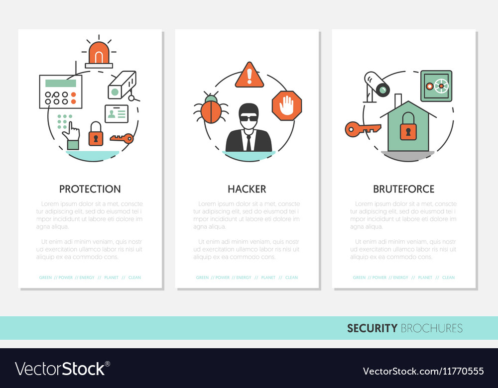 Security and Safety Business Brochures Template