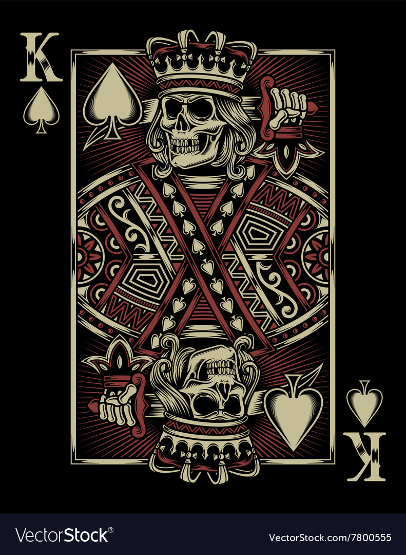 021b3dff8 Skull Playing Card Royalty Free Vector Image - VectorStock
