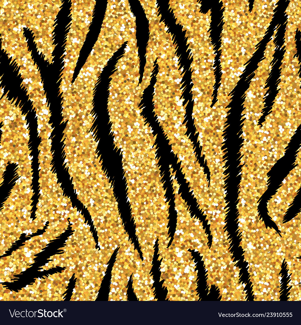Tiger texture seamless animal pattern golden
