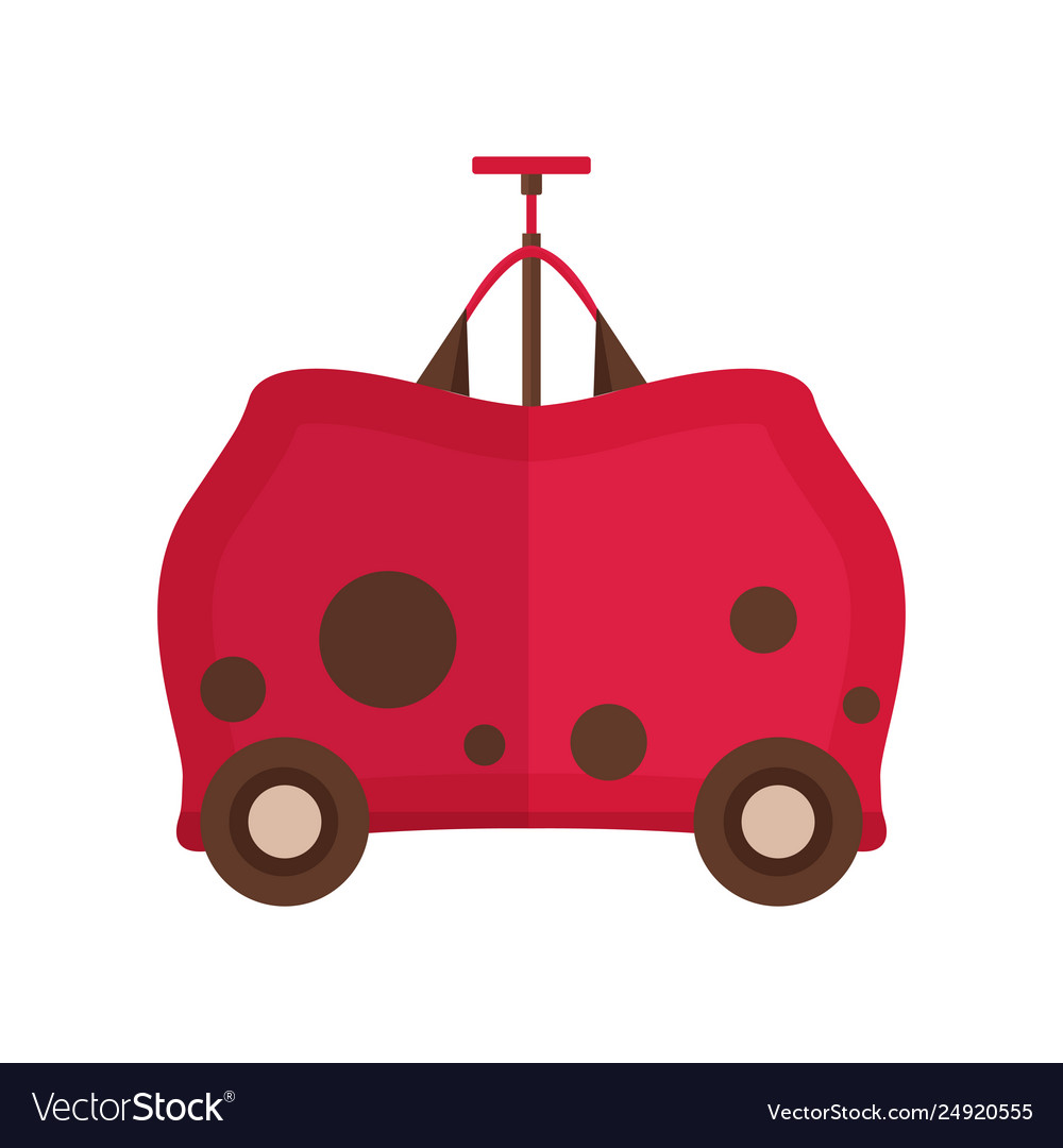 Travel children suitcase icon