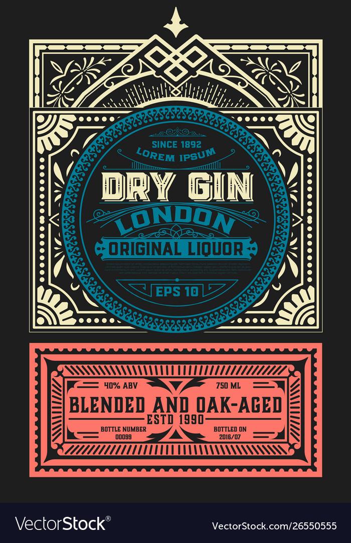 Vintage label for liquor design