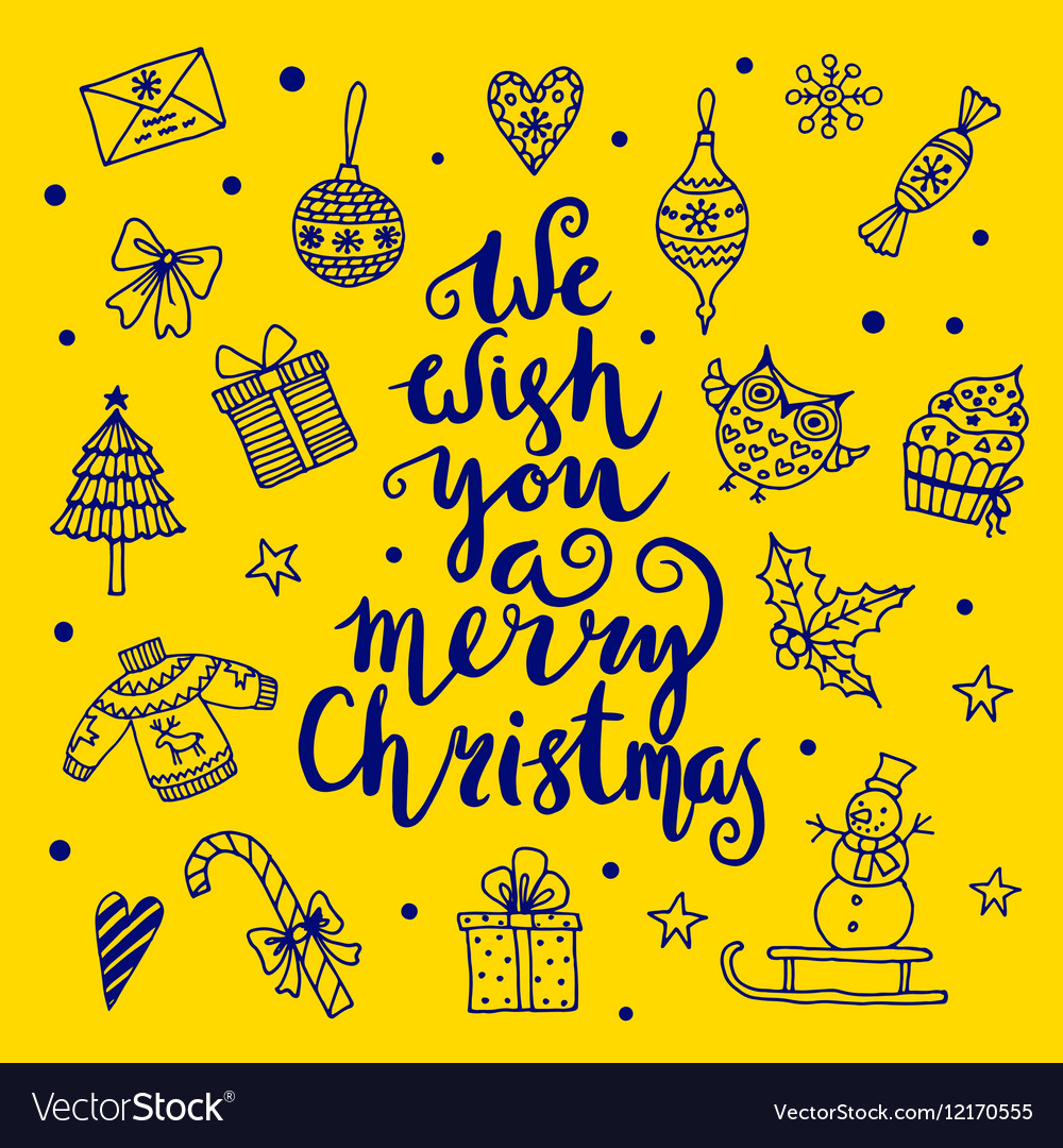 We Wish Ua Merry Christmas.We Wish You A Merry Christmas Quote On Patterned