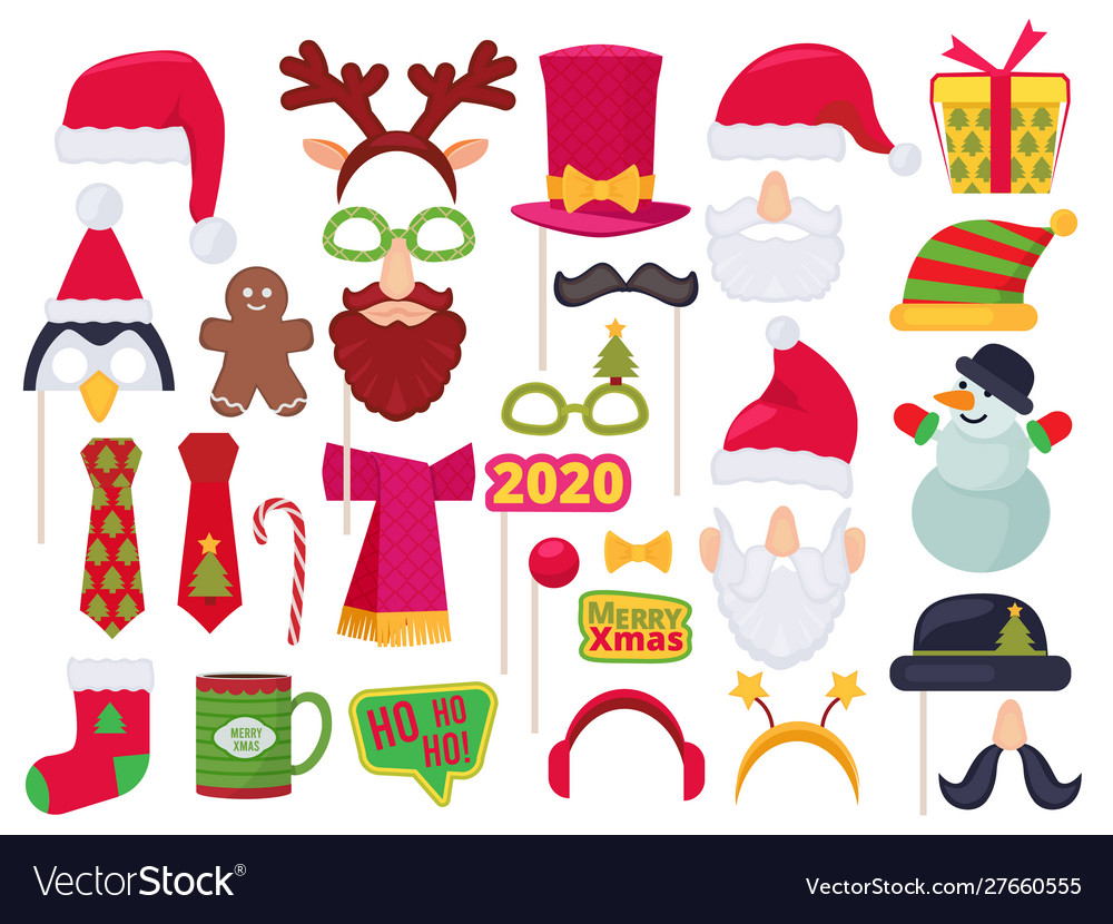 Xmas booth holidays funny characters costumes and