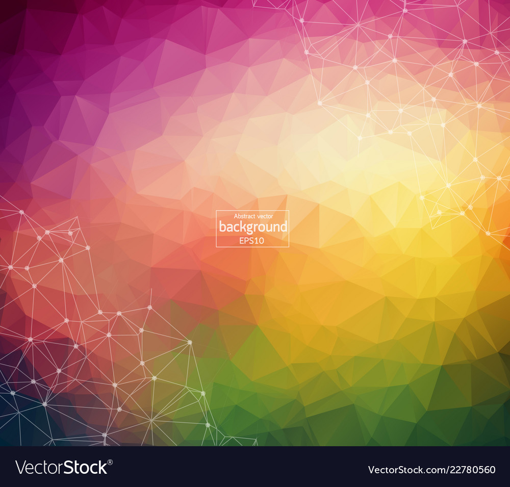 Abstract polygonal colorful background with