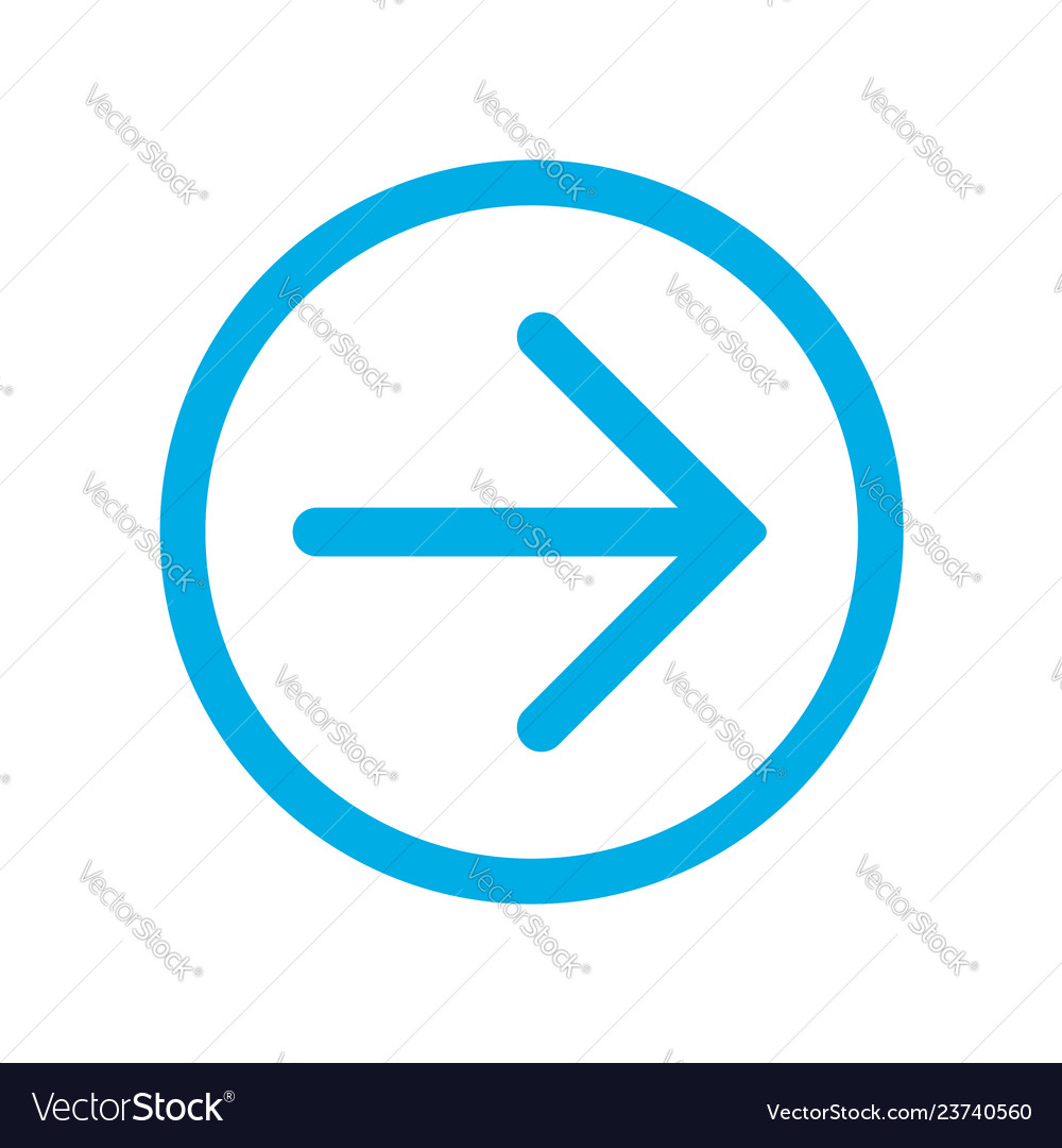Blue right next arrow in blue circle