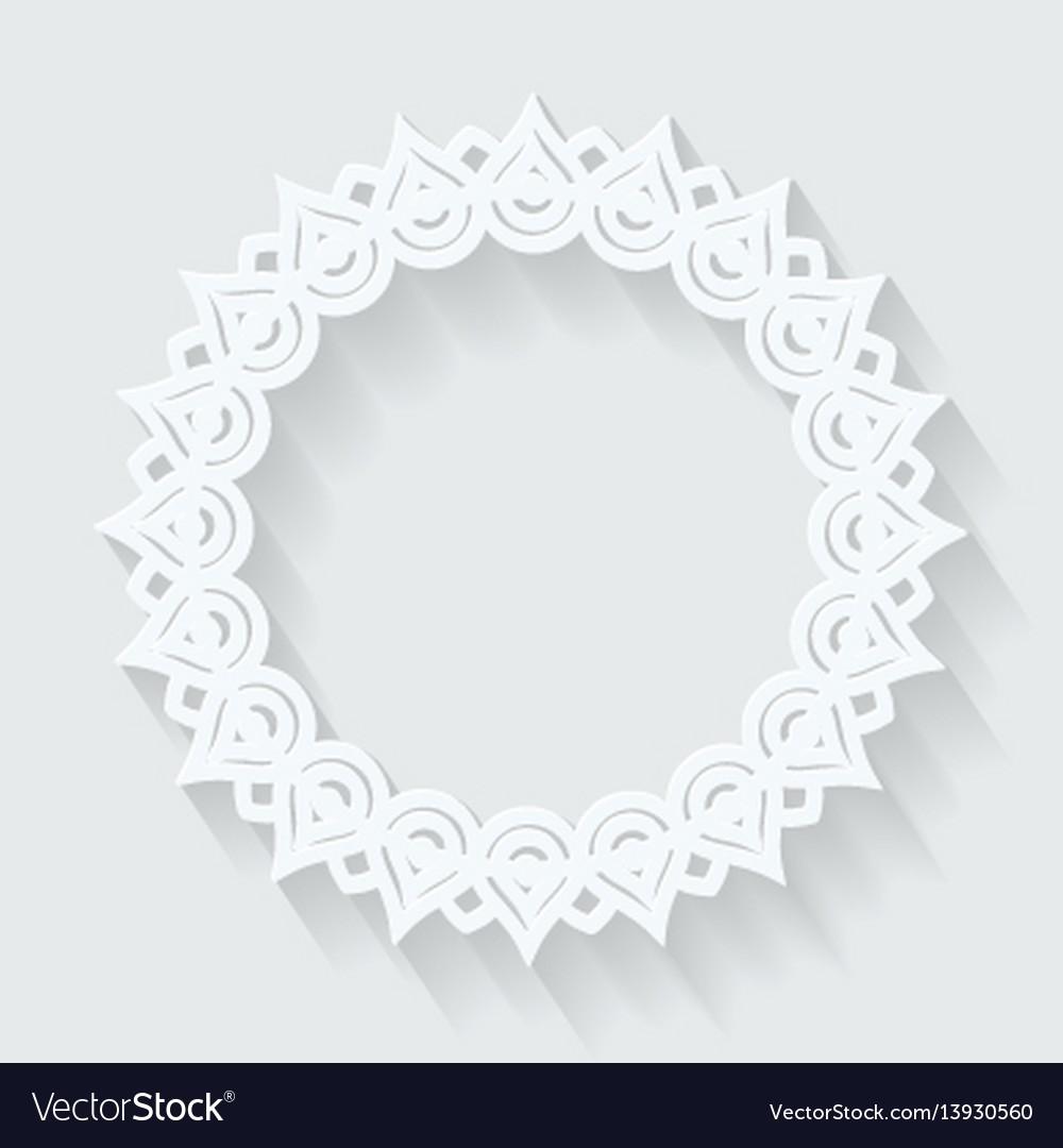Circle ornamental frame round pattern vector image