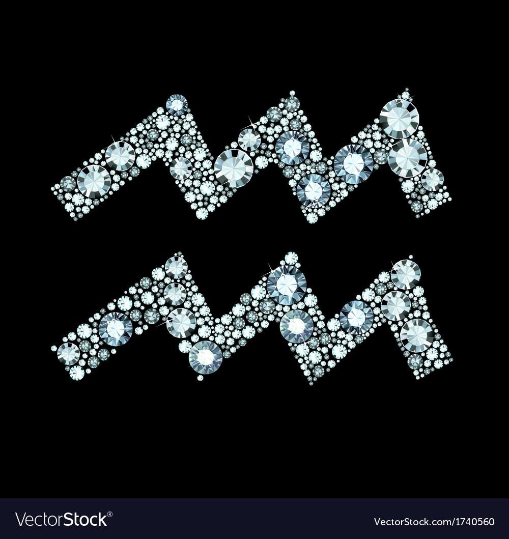 Diamond Aquarius Symbol