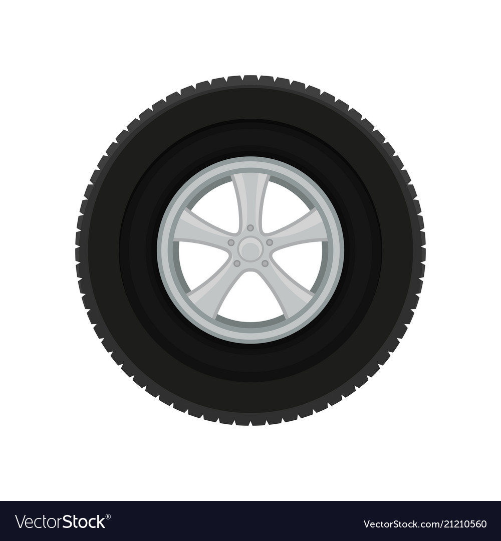 Gray car disk with large black tire automobile