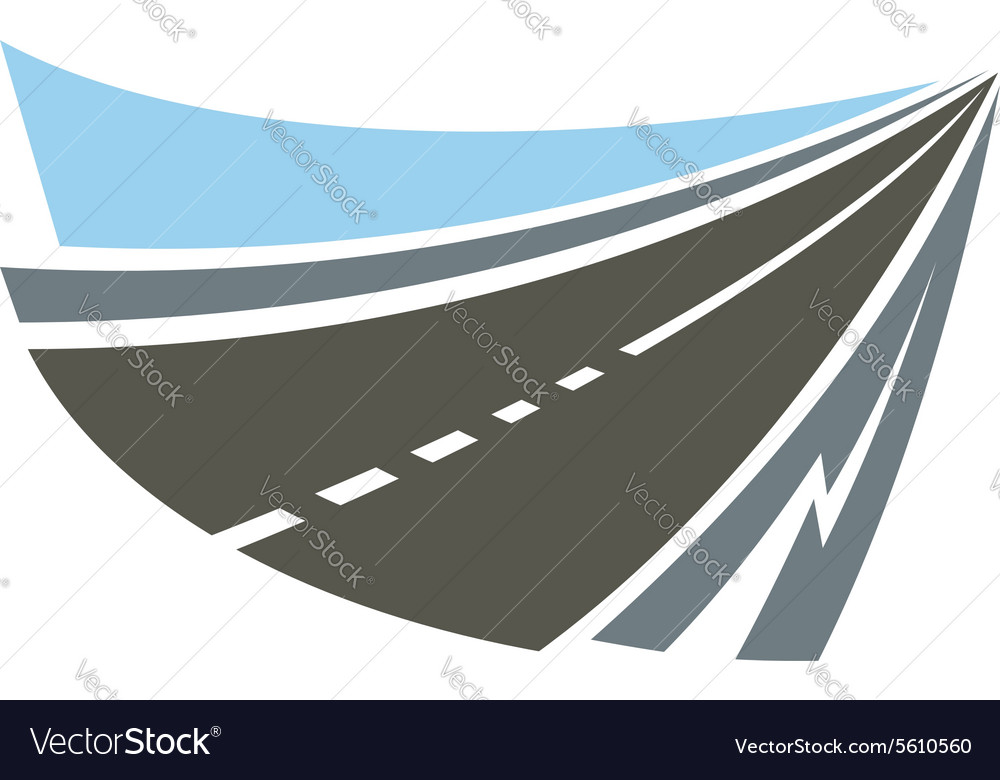 Highway road emblem or icon vector image