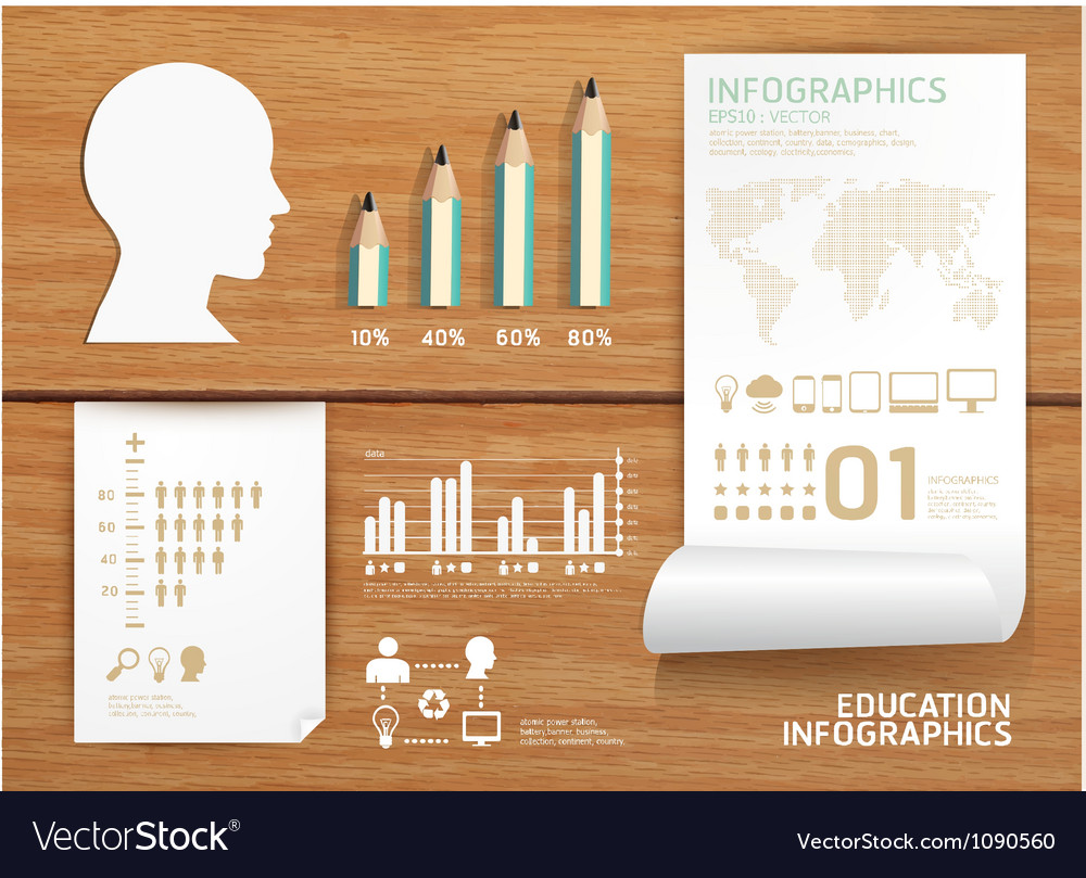 Infographics set and Information education