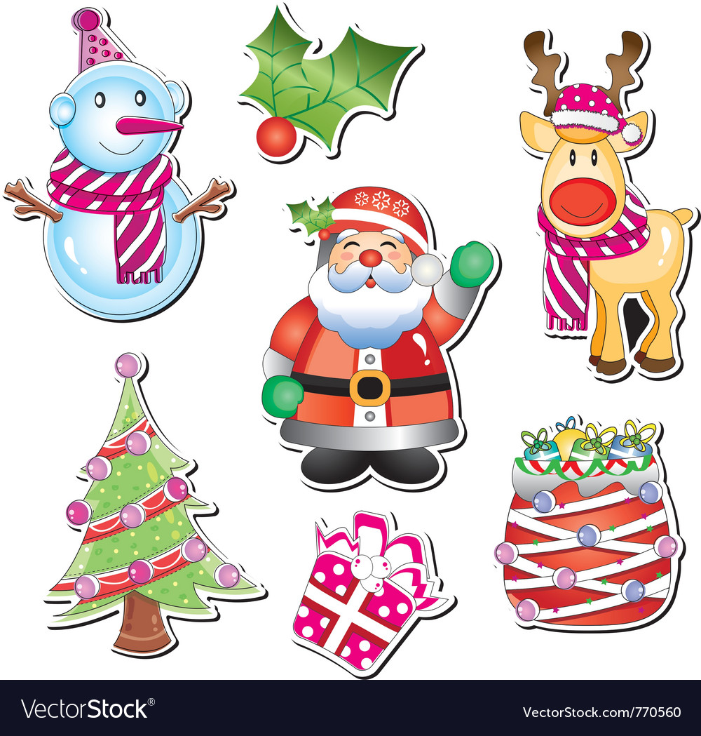 Merry christmas element Royalty Free Vector Image