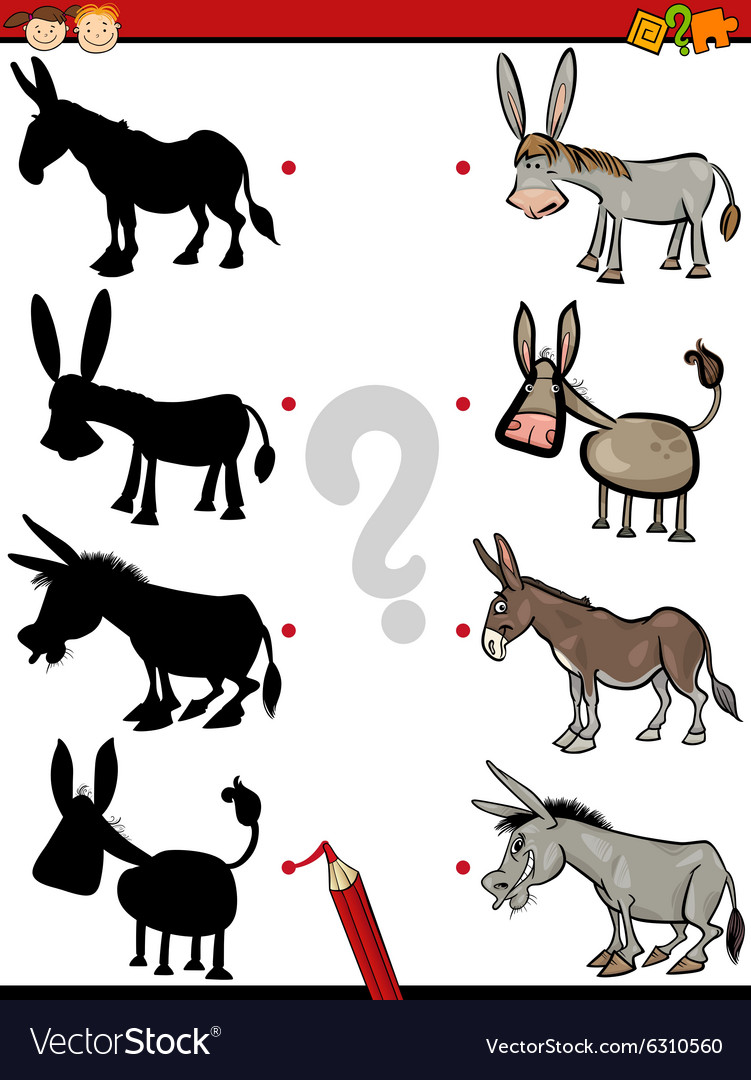 Shadow game with donkey