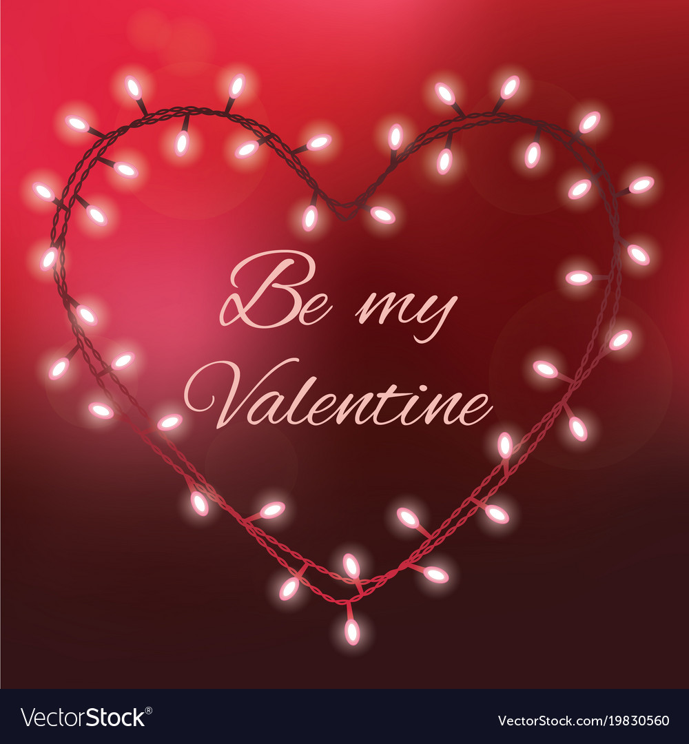 Valentines Day Background With Bright Lights And Vector Image