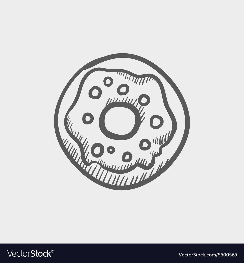 Doughnut sketch icon