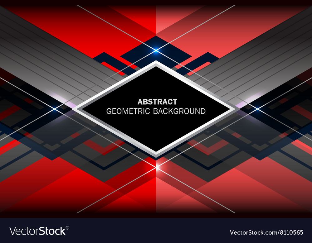Red blue geometric background vector image