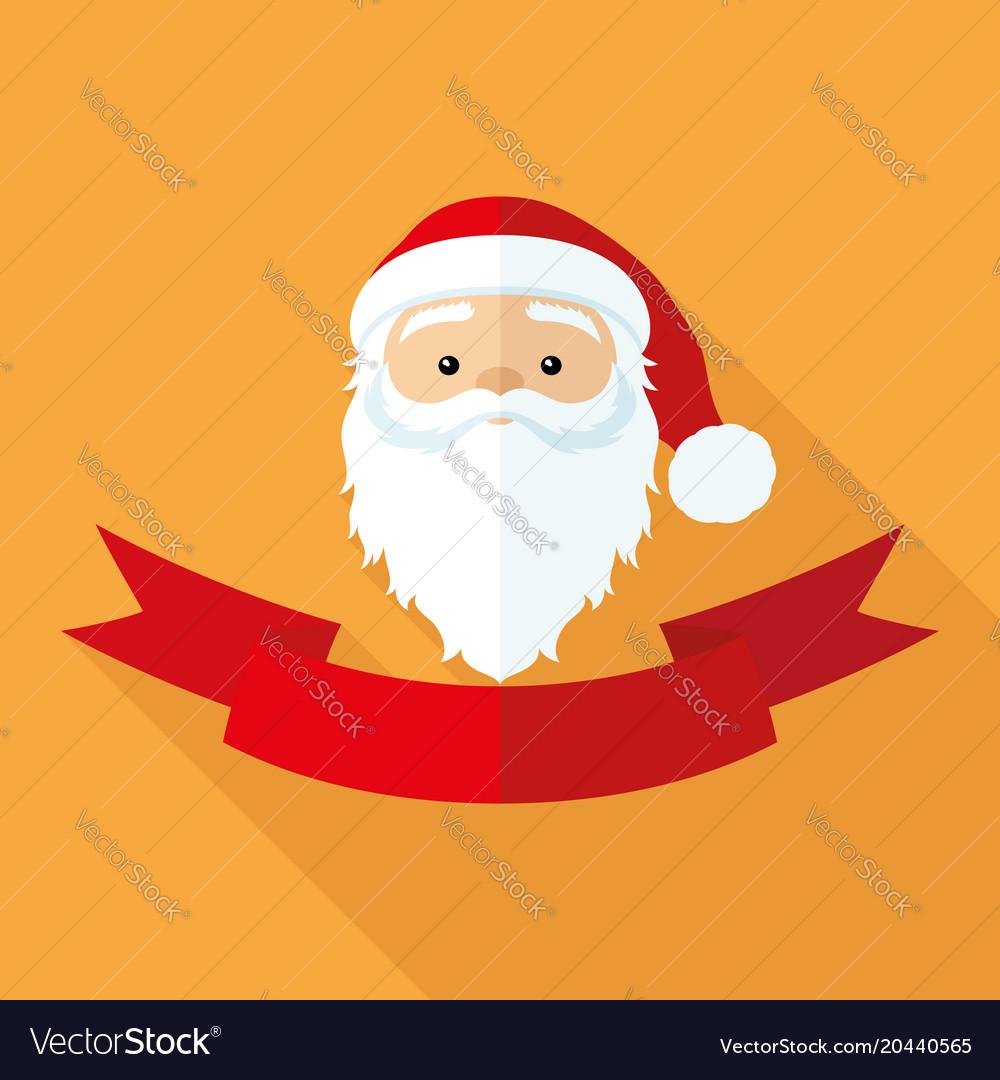 Santa claus and red ribbon
