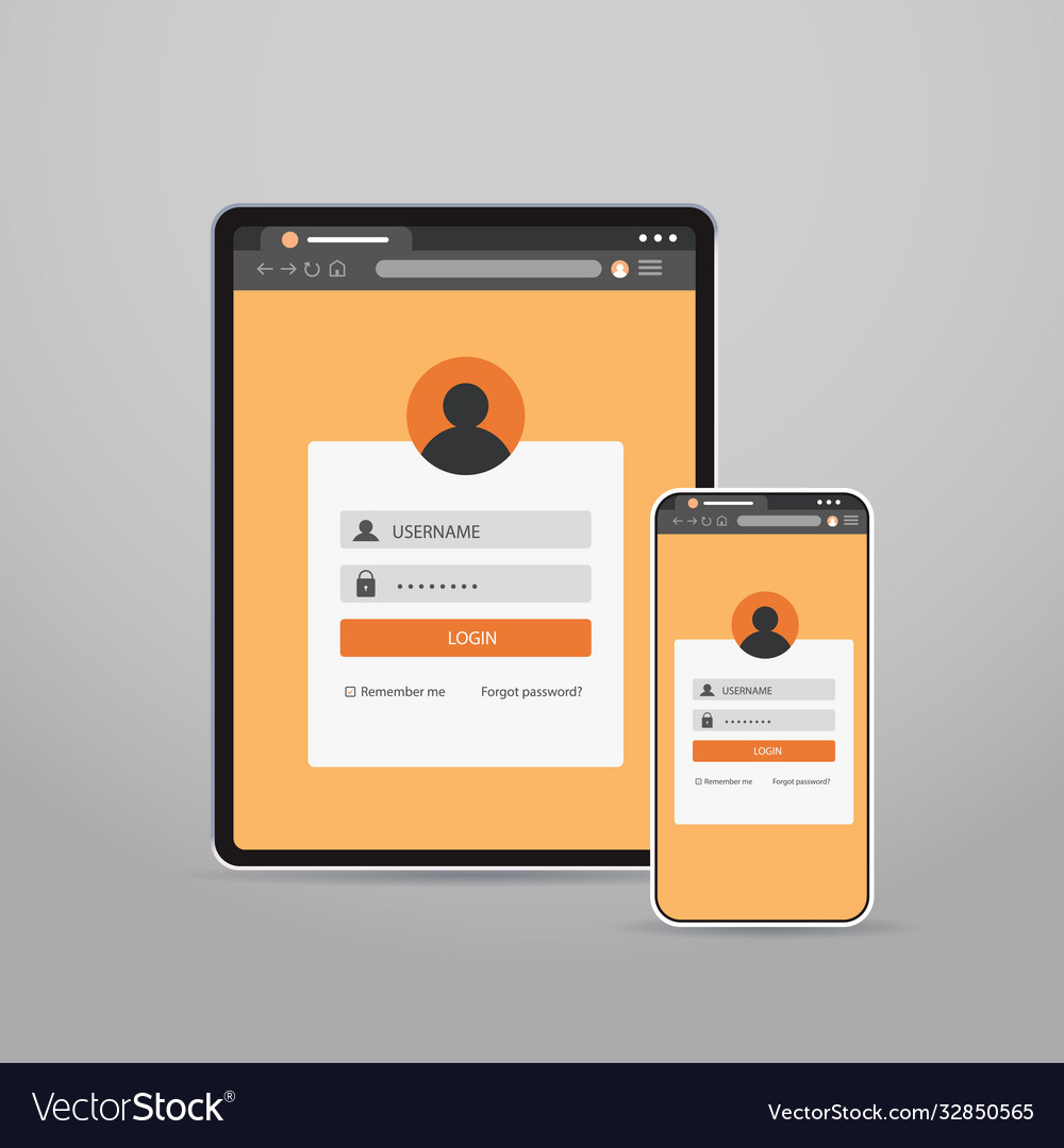 Tablet and smartphone screns cross platform