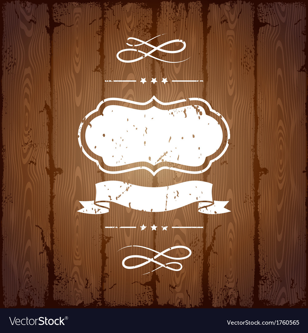 Wooden texture background with chalk labels and