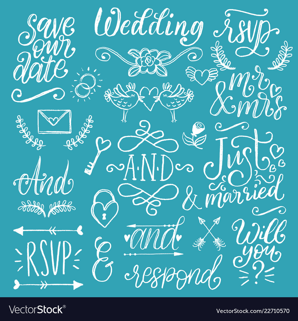 Cute decorations for wedding invitations overlays