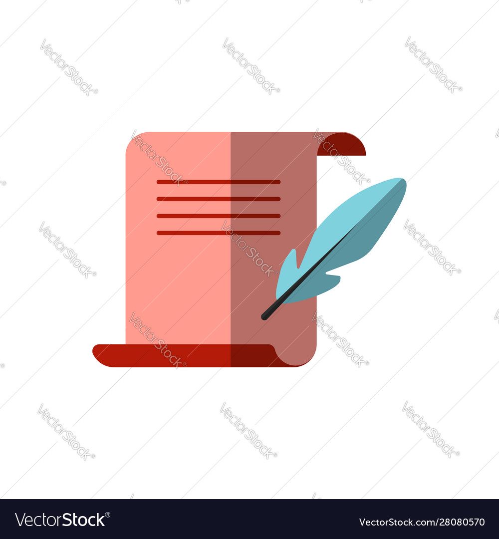 Flat icon medieval letter for diploma