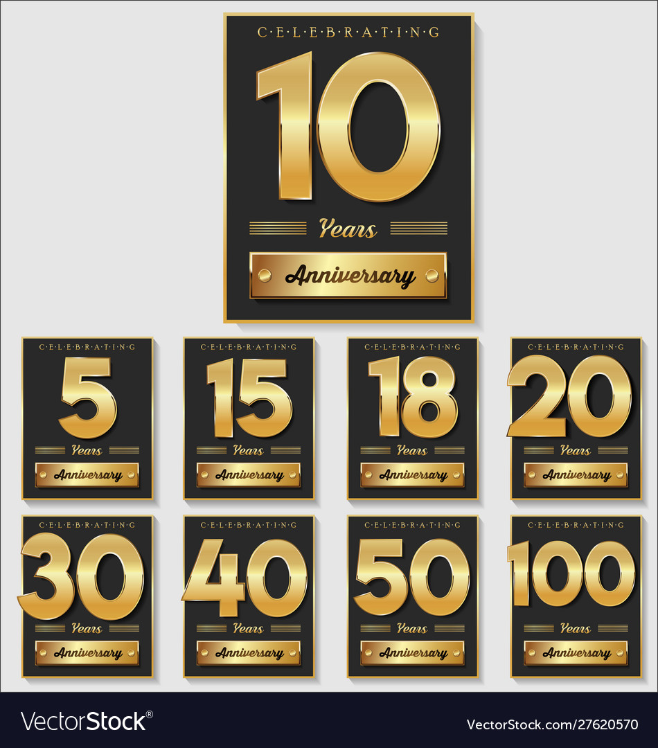 Golden anniversary banner collection